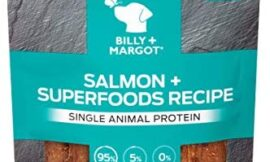 BILLY+MARGOT Salmon + Superfoods Single Animal Protein Grain Free Jerky Treats, 3.75 Ounces, Model Number: 111903