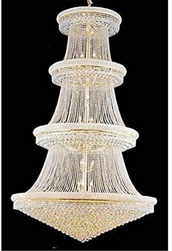 Elegant Lighting Value Primo Collection Chandelier D:62in H:96in Lt:56 Gold Finish (Royal Cut Crystals) Gold