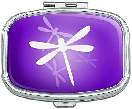 Purple Dragonfly Dragonflies Rectangle Pill Case Trinket Gift Box