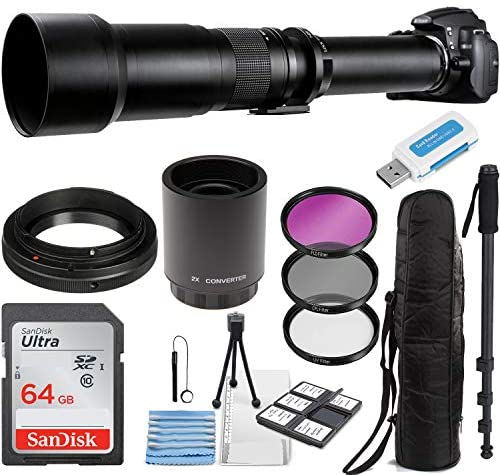 Commander Optics Super 650-1300mm / 2600mm (with 2X Teleconverter) f/8 Manual Telephoto Zoom Lens for Olympus/Panasonic Micro Four Thirds Mirrorless Digital Cameras + Photo Essential Accessory Kit