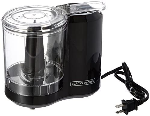 BLACK+DECKER 3-Cup Electric Food Chopper, Improved Assembly, Black, HC300B