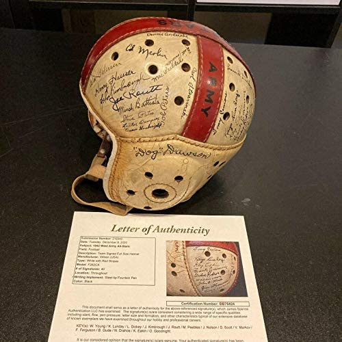 Historic Waddy Young 1942 All Star Game Team Signed Game Used Helmet JSA COA – NFL Autographed Game Used Helmets
