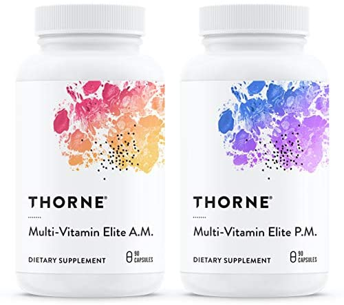 Thorne Research – Multi-Vitamin Elite – A.M. and P.M. Formula to Support a High-Performance Nutrition Program – 180 Capsules