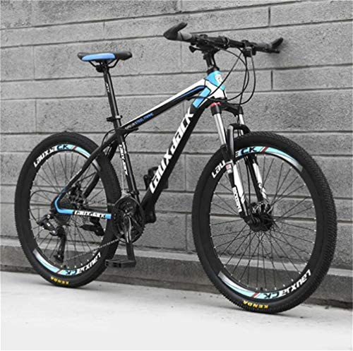 Tbagem-Yjr Adult Men Dual Suspension/Disc Brakes 26 Inch Mountain Bike, Sports Leisure Bicycle (Color : Black Blue, Size : 27 Speed)
