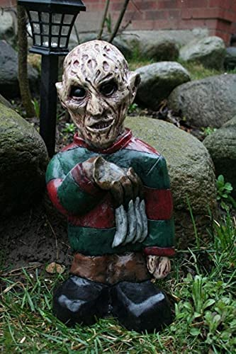 Horror Movie Garden Gnomes Statue, Frightening Nightmare Horror Gnome,Killer Garden Gnome,Spooky Undead Halloween Sculpture Combat Gnome for Outdoor Garden, Yard or Lawn,Revenge of The Lawn Gnomes