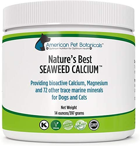Nature's Best Seaweed Calcium for Pets, Vet Recommended, Tested for Purity, 14 ounces