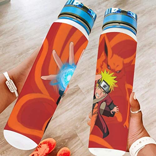 Anime Naruto Sports Water Bottle Non-Toxic Big Travel Water Bottle Gifts for Friends