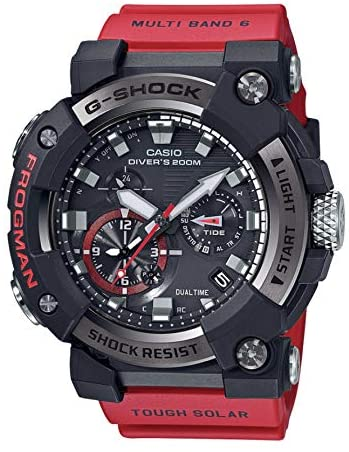 Casio GWFA1000-1A4 Frogman Men's Watch Red 56.7mm Carbon/Stainless Steel