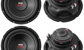 Pyle PLPW15D 15″ 8000W Car Subwoofer Audio Power Subs Woofers DVC, 2 Pack with Black Steel Basket, Non Press Paper Cone and 4 Ohm Impedance