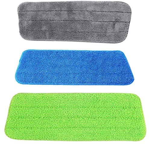 3PCS Microfiber Spray Mop Replacement Heads for Wet Dry Mops Compatible with Bona Floor Care System (3 Pack)