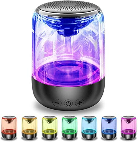 Portable Bluetooth Speaker, Mini Pocket Size Man Gadget, True Wireless Stereo Speaker with Crystal Clear Sound Rich Bass 33 Ft Wireless Range Microphone LED Light Show TF Card