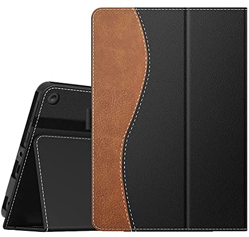 MoKo Case Compatible with All-New Kindle Fire HD 8 Tablet and Fire HD 8 Plus Tablet (10th Generation, 2020 Release),Slim Folding Stand Cover with Auto Wake/Sleep – Dual Color