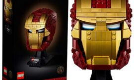 LEGO Marvel Avengers 76165 Iron Man Helmet Collectible Character Memorabilia Block Building Set with Display Base for Adults (480 Pieces)