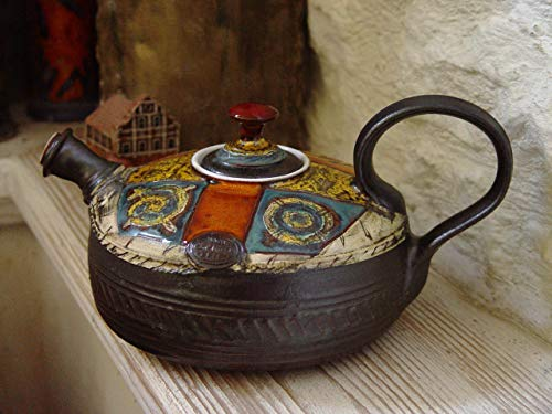 Colorful Pottery Teapot with Matte Finish – Fine Art Tea Pot – Tea Ware – Table Decor – Tea Lovers' Gift – Ceramic Teapot – Danko Pottery