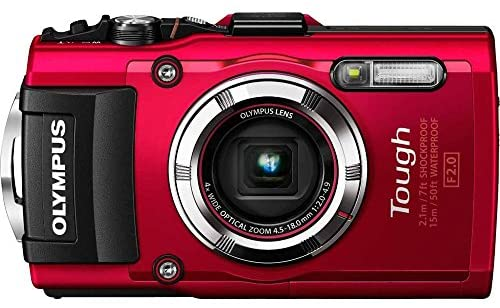 Olympus Stylus Tough TG-3 16MP Waterproof Digital Camera with 4X Optical Zoom, FHD 1080P Video, Built-in Wi-Fi, GPS and eCompass – Red (Certified REFURBISHED)