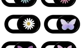 Laptop Camera Cover Slide,6-Pack Daisy and Butterfly Ultra-Thin Camera Cover Slide, Computer Camera Cover Slide Can Protect Your Computer Privacy. Suitable for Tablets, Cameras, Mobile Phones, etc.