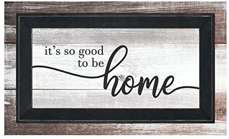 It's So Good To Be Home Framed TimberPrintz Pallet Sign 12×20