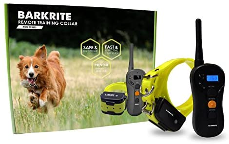 Downtown Pet Supply Dog Training Waterproof E Bark Collar with Rechargeable Remote with Beep/Vibration/Electric Shock Modes for Small, Medium and Large Dogs