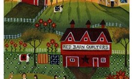 Trademark Fine Art Red Barn Quilters 1 by Cheryl Bartley, 18×18-Inch Fine Art, Multicolor