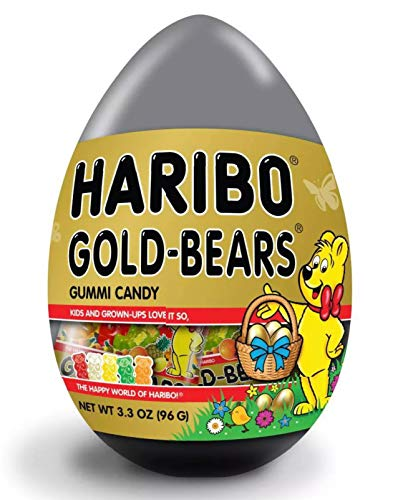 Haribo Gold-Bears Gummy Bears in Gold Easter Egg (3.3 Oz)