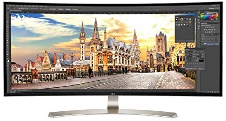 LG 38UC99-W 38-Inch 21:9 Curved UltraWide QHD+ IPS Monitor with Bluetooth Speakers (Renewed)