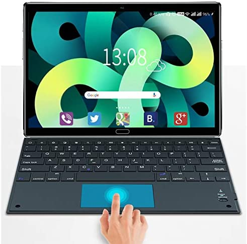 Tablet 10.8 Inch Android 10.0, 5G-Dual WiFi, 10-Core 2.3Ghz CPU 4GB RAM+64GB ROM/512GB Expandable, Tablet with Keyboard Touch 2560X1600 (2K) Screen HD+, 16MP Camera Dual SIM 4G Bluetooth GPS (Green)