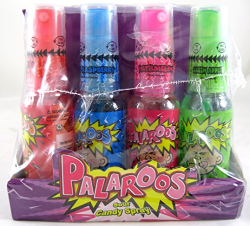 Palaroos Sour Candy Spray 1.12 Oz, 24 Ct .
