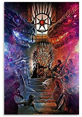 Movie TV Series Posters Game of Thrones Ice and Fire Canvas Art Poster and Wall Art Picture Print Modern Family Bedroom Decor Posters 08x12inch(20x30cm)