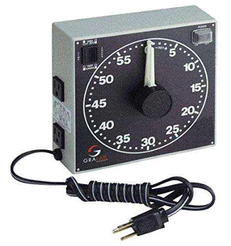 GraLab Model 300, 60 Minute Photography and Darkroom Timer, 7-1/2″ Length x 7-1/2″ Width x 2-1/2″ Height