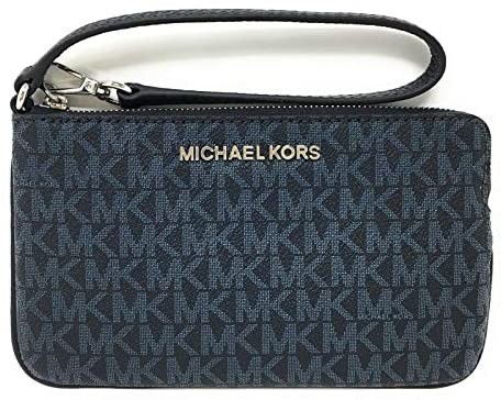 Michael Kors Jet Set Travel Large Top Zip Wristlet – Monogram PVC (Admiral)