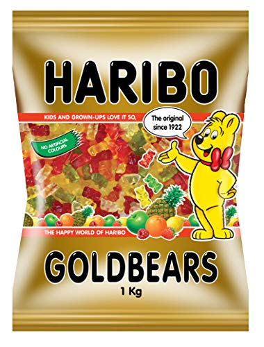 Haribo Gold Bears Gummi Candy 1kg/35.27oz