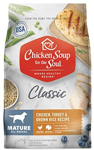 Chicken Soup for the Soul Mature Dry Dog Food – Chicken, Turkey & Brown Rice Recipe