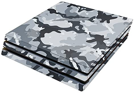 MightySkins Skin Compatible with Sony PS4 Pro Console – Gray Camouflage | Protective, Durable, and Unique Vinyl Decal wrap Cover | Easy to Apply, Remove, and Change Styles | Made in The USA