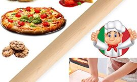Rolling Pin, Wooden Rolling Pin for Baking – Pie Crust, Cookie, Pastry, Pizza, Clay, Pasta, Cookies, Dumpling, Smooth Dough Roller Essential Kitchen gadgets Perfect Gifts for Bakers (16″1.4″)