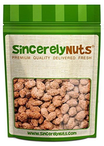 Sincerely Nuts Cinnamon Almonds (3 LB) Vegan, Kosher & Gluten-Free-Tasty Snack for the Whole Family-Nutritional Dessert Alternative – Glazed Nuts with Vanilla – Indulge with Bulk Almonds