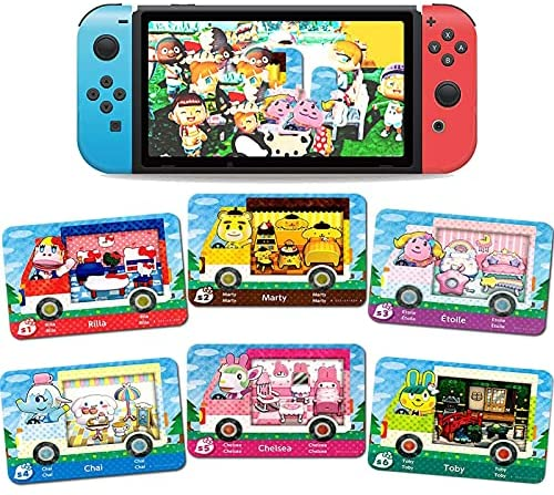 6 Pcs NFC Big Cards for Animal Crossing New Horizons RV Villager Furniture ACNH Card for Switch/Switch Lite/Wii U/New 3DS 3.42.10.3IN