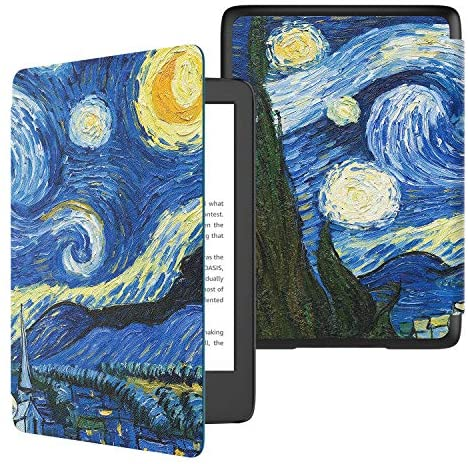TiMOVO Case Compatible for All-New Kindle (10th Generation, 2019 Release), Shock-Absorption Smart Cover Shell with Auto Wake/Sleep, Not Fit Kindle Paperwhite or Kindle 8th Gen, Starry Night