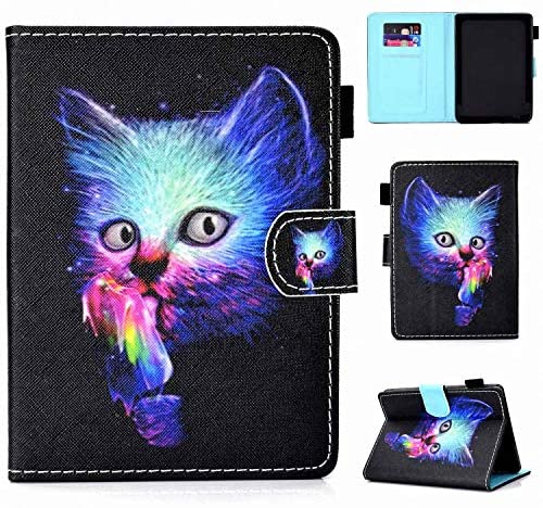 2019 All-New Kindle Case Folio Flip Smart Cover with Auto Sleep/Wake for Amazon All-New Kindle 10th Generation 2019 Release (Cat)