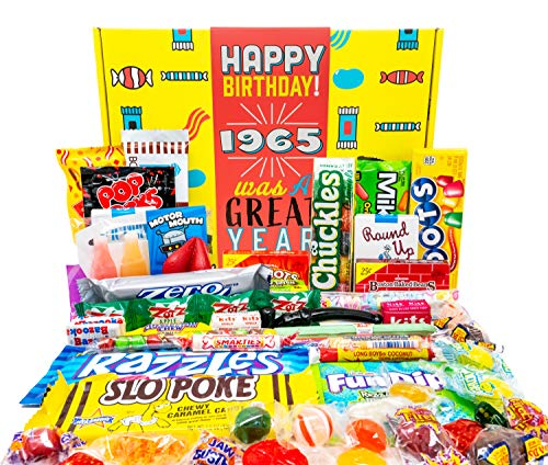 Woodstock Candy ~ 1965 56th Birthday Gift Box Mix of Nostalgic Retro Candy from Childhood for 56 Year Old Man or Woman Born 1965