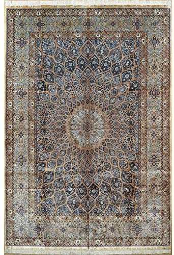 Camel Carpet Magnificent Large Size Rug Silk Hand-Made Rug 10x14ft