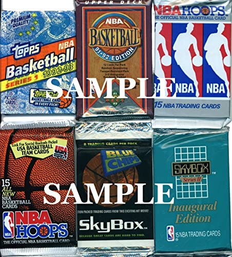 200 Vintage NBA Basketball Cards in Old Sealed Wax Packs – Perfect for New Collectors