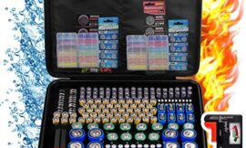 Battery Organizer Holder Storage, 240+ Fireproof Batteries Case Containers Box with Tester Checker BT-168. Garage Gadget Holds AA AAA C D Cell 9V 3V Lithium LR44 CR2 CR1632 CR2032 Button Batteries