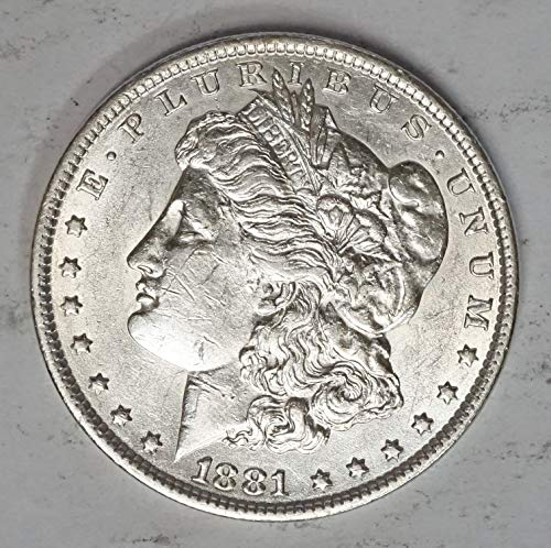 1881 S Morgan Silver Dollar $1 About Uncirculated
