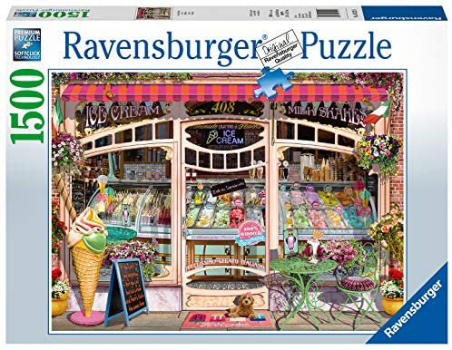 Ravensburger 16221 Ice Cream Shop 1500 Piece Puzzle for Adults, Every Piece is Unique, Softclick Technology Means Pieces Fit Together Perfectly