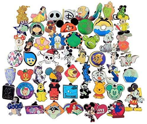 Disney Pin Trading 25 Assorted Pin Lot ~ Brand New Pins ~ No Doubles ~ Tradable