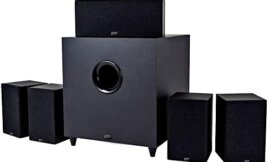 Monoprice 10565 Premium 5.1 Channel Home Theater System with Subwoofer Black