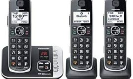 Panasonic KX-TGE663B Link to Cell Voice Assist Cordless Phone with Digital Answering Machine (Renewed)