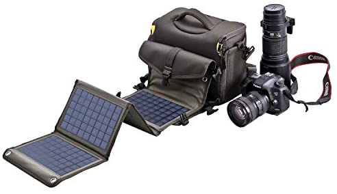 Sunkingdom 20W Solar Panel(12V and 5V) Multi-Function Waterproof Anti-Shock Unisex Shoulder Camera Protection Gadget Rechargeable Bag Charger with 2 Inner Bag for SLR/DSLR/Other Camera/Accessories