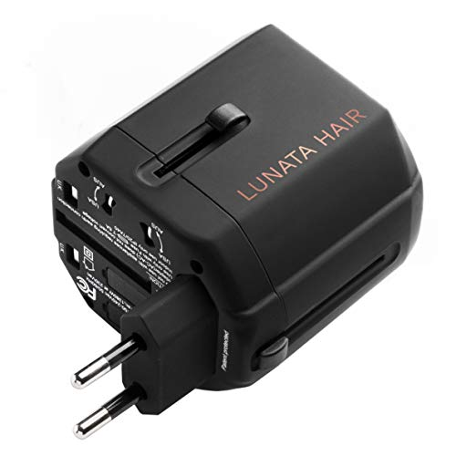 Lunata Take Me Away Universal, International Travel Plug Power Adapter   Must-Have Travel Converter Gadget and Accessories for Women