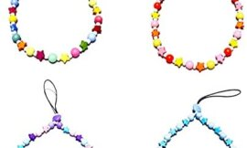 4PCS Universal Mobile Phone Lanyard Colorful Beads Cellphone Chain Straps Decoration Phone Charms for Women Girls